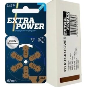 Bateria Auditiva ExtraPower A312 C/6